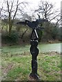 ST3089 : Milepost at a National Cycle Network junction by Robin Drayton