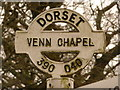 ST3804 : Synderford: detail of Venn Chapel finger-post by Chris Downer