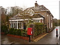 SY6394 : Frampton: Keeper's Cottage and postbox № DT2 48 by Chris Downer