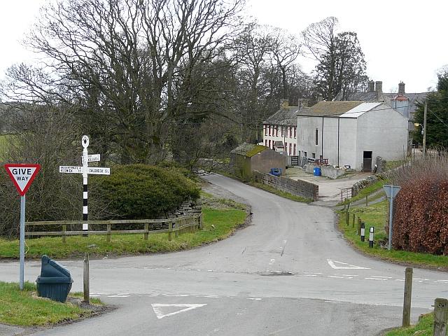 Crossroads in Uldale village