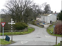 NY2436 : Crossroads in Uldale village by Rose and Trev Clough