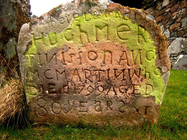 Crarae: gravestone