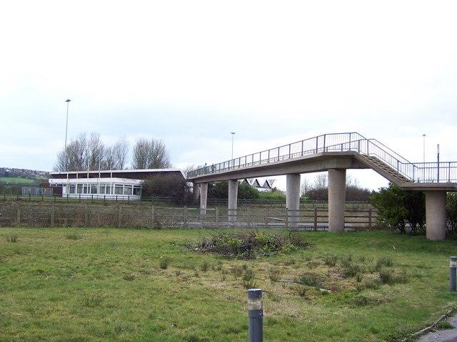 Bridge over the M61, Bolton West Services