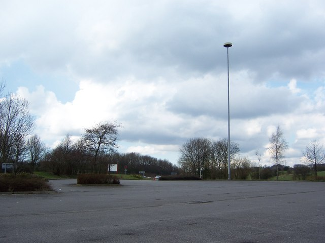 Car Parking Lot (or lots of Parking), Bolton West Services, Southbound, M61 Motorway