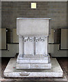 TQ2075 : All Saints, East Sheen Avenue, East Sheen - Font by John Salmon