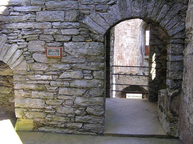 Scalloway Castle interior