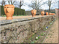 TQ1773 : Ham House: row of urns by Stephen Craven