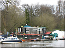 TQ1773 : Old ferry boat at Twickenham by Stephen Craven