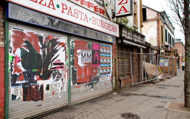 Derelict shops, Belfast