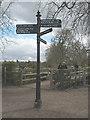 TQ1773 : Signpost near Ham House by Stephen Craven