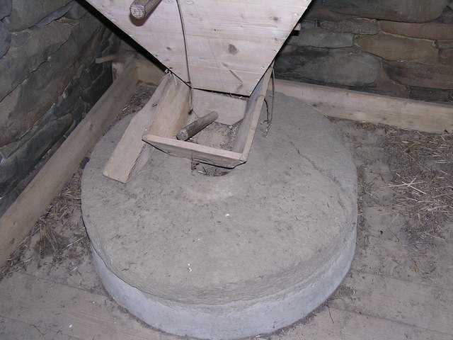 Interior of mill at Crofthouse Museum