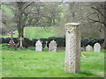 TF0119 : Saxon cross shaft in Creeton churchyard by Bob Harvey