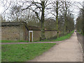 TQ1772 : Ham House: boundary wall by Stephen Craven