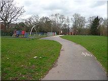 SS9712 : Tiverton : Path & Playground by Lewis Clarke