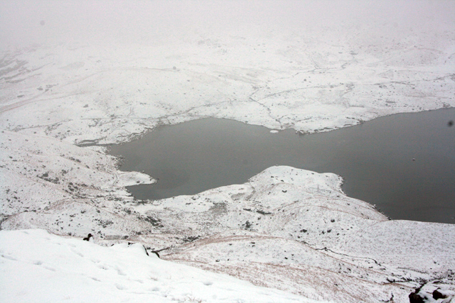 Easedale Tarn from above Greathead Crag