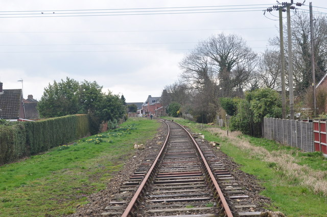 Track north of Dereham Station