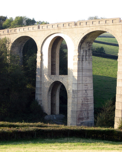 The reinforced arch of Cannington Viaduct