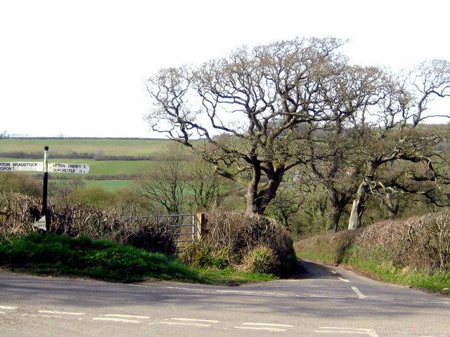 Bredy Road - Litton Lane crossroads - Puncknoll