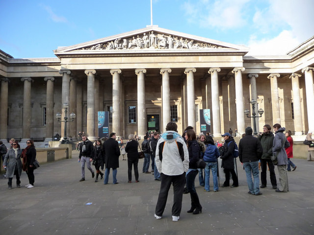 Entrance to British Museum, London WC1
