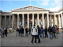 TQ3081 : Entrance to British Museum, London WC1 by Christine Matthews