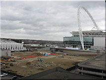 TQ1985 : Wembley Stadium & Building Site by Peter Whatley