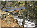 NY9027 : Wynch Bridge by malcolm tebbit