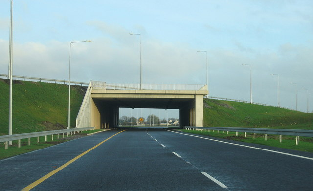 Near Kinnegad, motorways merge