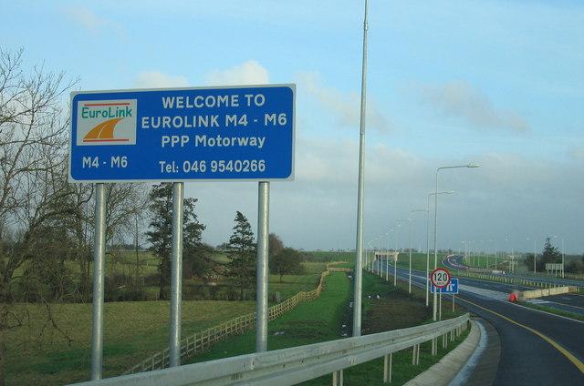 The M6 near Kinnegad