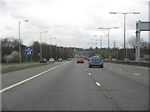 TQ0485 : M40 Motorway - The End by K. Whatley