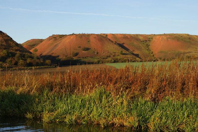 Red hills of Broxburn