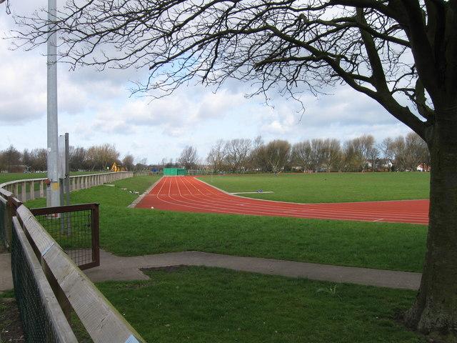 Running track, Churchill Playing Field