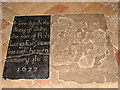 TG0206 : The church of St Peter in Reymerston - C17 ledger slabs by Evelyn Simak