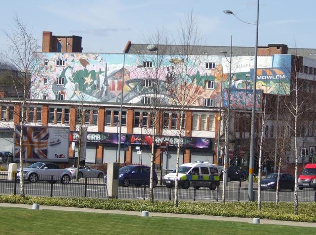 Mural on building in Water Street