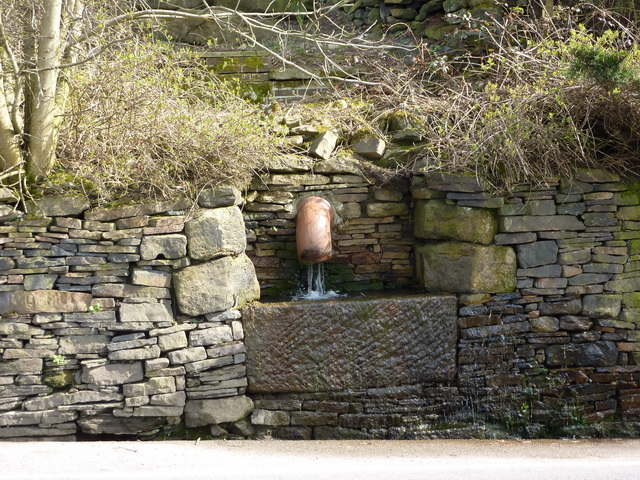 Stone trough, Ripponden New Bank