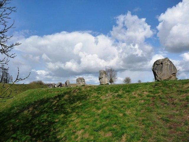 Stones lining the ditch, Avebury