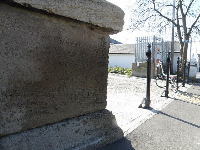 Bench Mark by the Black Sluice lock