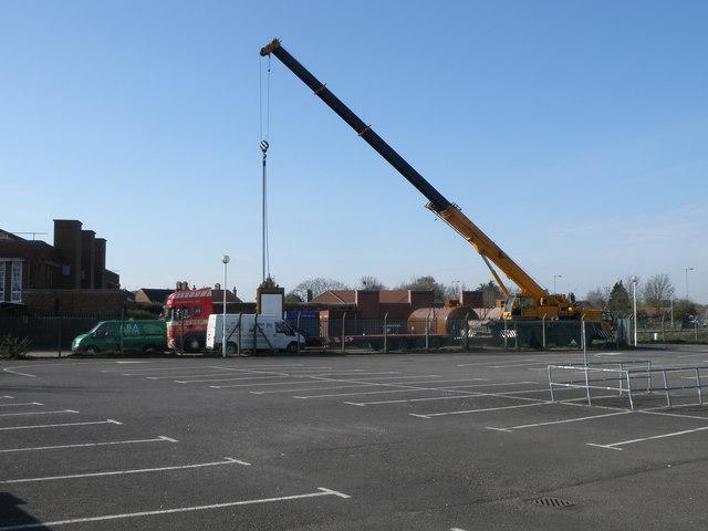 Crane lifting at the Black Sluice