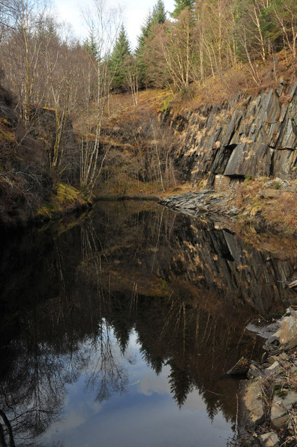 Disused slate quarry at Ballachulish