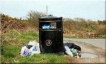 J5682 : Litter bin near Orlock, Groomsport by Albert Bridge