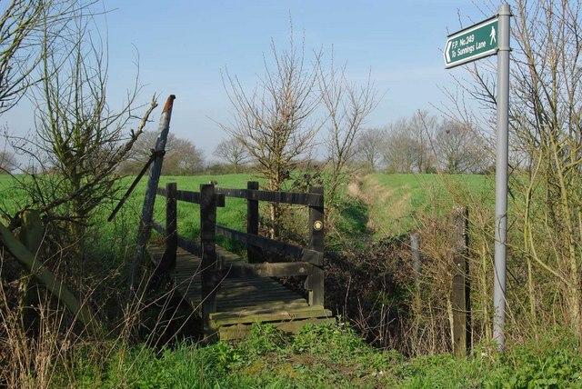 Footbridge on Footpath 249