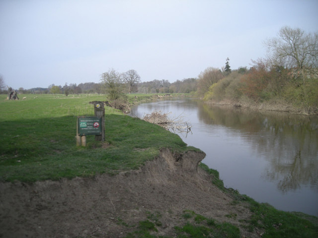 The River Severn near Berwick House