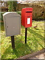 SY6990 : Dorchester: postbox № DT1 103 and a duck, Mill Street by Chris Downer