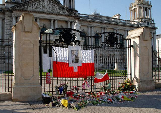 Lech Kaczynski tribute, Belfast