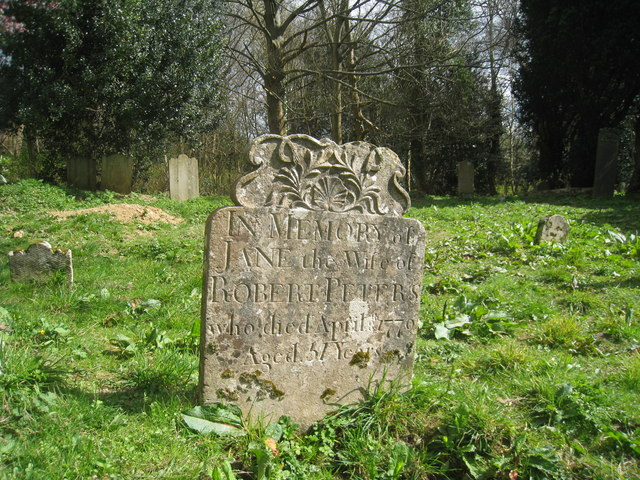 Headstone at Old Church of St Helen