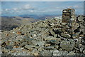 NY2107 : Trig point, Scafell Pike by Philip Halling