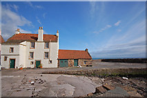 NO5502 : House at the end of the Pittenweem breakwater by John Allan