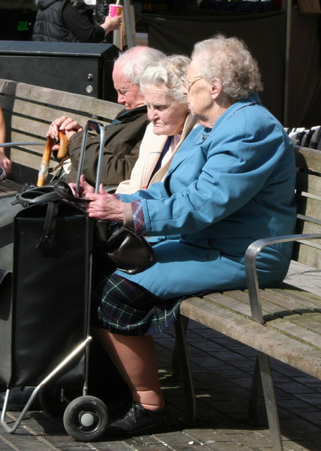 Redhill:  Pensioners on a seat