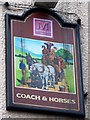 SD4981 : Sign for the Coach and Horses by Maigheach-gheal