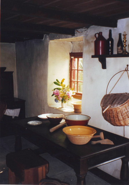 The Kitchen at Cherryburn, Thomas Bewick's home, Mickley Square, Northumberland