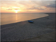 SY6873 : Chesil Cove, Sunset by Ivan Hall